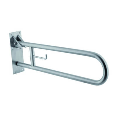 Folding handrail with holder for t / b